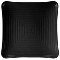 GET ML-65-BK Milano 13 3/4 inch Black Melamine Square Plate - 6/Pack