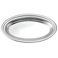 Oneida 88002913B Stiletto 13 inch x 8 inch Oval Brushed Stainless Steel Roll Tray