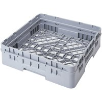 Cambro BR414151 Soft Gray Camrack Customizable Full Size Open Base Rack with 1 Extender