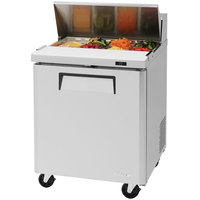 Turbo Air MST-28 27 1/2 inch 1 Door Mega Top Refrigerated Sandwich Prep Table
