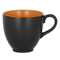 RAK Porcelain TRCLCU20BC Trinidad 6.75 oz. Cedar and Black Porcelain Cup - 12/Case