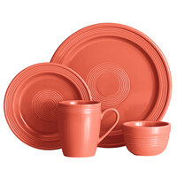 Acopa Capri Coral Reef China Dinnerware Set with Service for 12 - 48/Pack