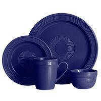 Acopa Capri Deep Sea Cobalt China Dinnerware Set with Service for 12 - 48/Pack