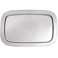 Oneida 80562136A Patriot 17 1/4 inch x 12 1/2 inch Oblong Stainless Steel Serving Tray