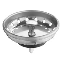 3 1/2 inch Sink Basket Strainer with Fixed Post