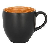RAK Porcelain TRCLCU09BC Trinidad 3.05 oz. Cedar and Black Porcelain Cup - 12/Case