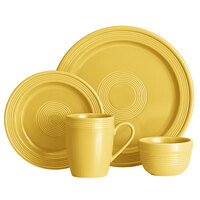 Acopa Capri Citrus Yellow China Dinnerware Set with Service for 12 - 48/Pack