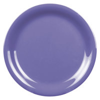 Thunder Group CR106BU 6 1/2 inch Purple Narrow Rim Melamine Plate - 12/Pack