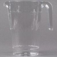 Fineline Platter Pleasers 3401-CL 50 oz. Clear Plastic Pitcher - 50 / Case