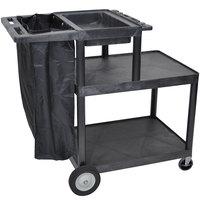 Luxor / H. Wilson MSB42 Three Shelf Janitor Cart