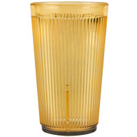Carlisle 401213 Crystalon Stack-All 12.3 oz. Amber SAN Plastic Tumbler - 12/Case