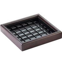 Cal-Mil 330652 6 inch Dark Wood Square Drip Tray