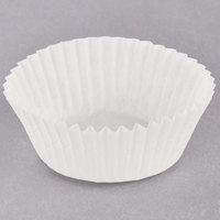Hoffmaster 1 5/8 inch x 15/16 inch White Fluted Baking Cup - 10000/Case