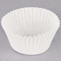 Hoffmaster 610060 2 1/4 inch x 1 5/8 inch White Fluted Baking Cup   - 500/Pack