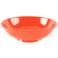 GET B-48-RO Diamond Mardi Gras 60 oz. Rio Orange Melamine Bowl - 12/Case