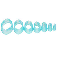 Ateco 5705 7-Piece Polycarbonate Fluted Football Cutter Set (August Thomsen)