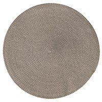 RITZ® 66304 15 inch Round Taupe Polypropylene Placemat   - 12/Pack