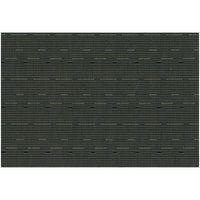 RITZ® 64909 19 inch x 13 inch Black Grass Cloth PVC Coated Placemat - 12/Pack