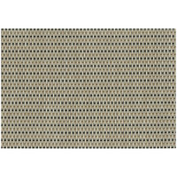 RITZ® 64901 19 inch x 13 inch Tan / Black Open Basketweave PVC Coated Placemat - 12/Pack