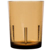 Cambro D14609 Del Mar 14 oz. Light Amber Customizable Plastic Tumbler - 36/Case