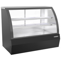 Beverage-Air CDR5HC-1-B 60 1/4 inch Curved Glass Black Refrigerated Bakery Display Case
