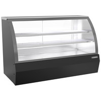 Beverage-Air CDR6HC-1-B 73 11/16 inch Curved Glass Black Refrigerated Bakery / Deli Display Case