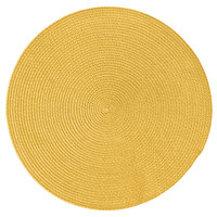 RITZ® 66307 15 inch Round Sun Polypropylene Placemat - 12/Pack