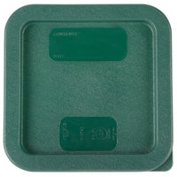 Carlisle 1074008 StorPlus Dark Green Polyethylene Lid for 2 and 4 Qt. Square StorPlus Containers