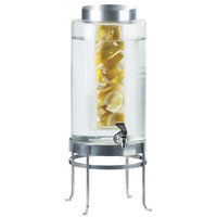 Cal-Mil 1580-3INF-74 3 Gallon Silver Soho Glass Beverage Dispenser with Infusion Chamber