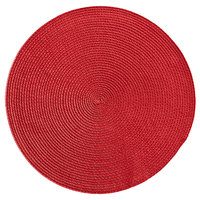 RITZ® 66302 15 inch Round Cherry Polypropylene Placemat - 12/Pack