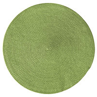 RITZ® 66303 15 inch Round Grass Polypropylene Placemat - 12/Pack