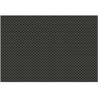 RITZ® 64801 19 inch x 13 inch Charcoal PVC Coated Placemat - 12/Pack