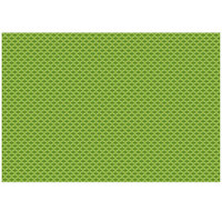 RITZ® 64803 19 inch x 13 inch Green PVC Coated Placemat - 12/Pack