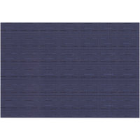RITZ® 64912 19 inch x 13 inch Blue Grass Cloth PVC Coated Placemat - 12/Pack