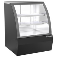 Beverage-Air CDR3HC-1-B-D 37 1/4 inch Curved Glass Black Dry Bakery Display Case
