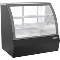 Beverage-Air CDR4HC-1-B 49 1/4 inch Curved Glass Black Refrigerated Bakery / Deli Display Case