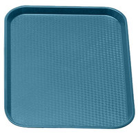 Cambro 1014FF414 Teal 10 inch x 14 inch Customizable Fast Food Tray 24/Case