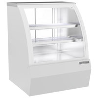 Beverage-Air CDR3HC-1-W 37 1/4 inch Curved Glass White Refrigerated Bakery / Deli Display Case