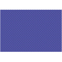 RITZ® 64805 19 inch x 13 inch Cobalt PVC Coated Placemat - 12/Pack