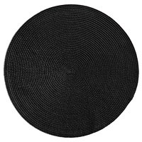 RITZ® 66301 15 inch Round Black Polypropylene Placemat - 12/Pack