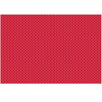 RITZ® 64807 19 inch x 13 inch Red PVC Coated Placemat - 12/Pack