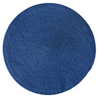 RITZ® 66306 15 inch Round Navy Polypropylene Placemat - 12/Pack