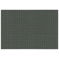 RITZ® 64903 19 inch x 13 inch Gold / Silver / Black 4x4 Basketweave PVC Coated Placemat - 12/Pack
