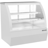 Beverage-Air CDR4HC-1-W 49 1/4 inch Curved Glass White Refrigerated Bakery / Deli Display Case