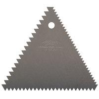 Ateco 1446 Aluminum 4 1/4 inch x 4 1/4 Decorating and Icing Comb