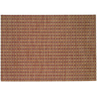 RITZ® 64905 19 inch x 13 inch Tan / Orange / Rust Open Basketweave PVC Coated Placemat - 12/Pack