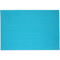 RITZ® 64804 19 inch x 13 inch Aqua PVC Coated Placemat - 12/Pack
