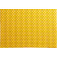 RITZ® 64802 19 inch x 13 inch Lemon PVC Coated Placemat - 12/Pack