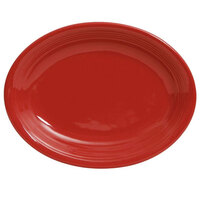 Tuxton Concentrix CQH-1142 Cayenne 11 1/2 inch x 8 3/4 inch Oval China Platter Coupe 12 / Case