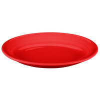 Tuxton CQH-1142 Concentrix 11 1/2 inch x 8 3/4 inch Cayenne Oval China Coupe Platter - 12/Case